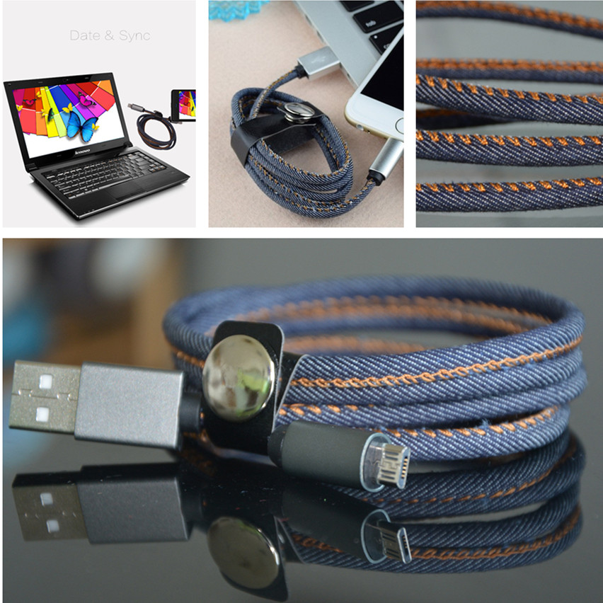 cowboy-jeans-micro-usb-v8-data-charging-cable-charger-with-pu-leather-ribbon-for-smartphone-mciro